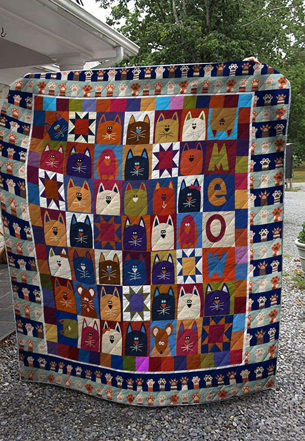 5 popular Personalized Cat Lovers Quilt Gift for Mom Dad W Fort Worth Mall Your to
