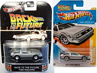 Hot Wheels Back to The Future Car Set Retro Entertainment Time Machine Mainline Series New Model Delorean