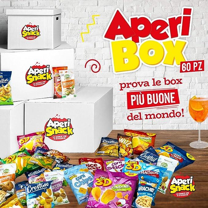 24 opinioni per APERIBOX 60- AP18.001.04 Fantastica box piena di snack salati, stuzzichini per
