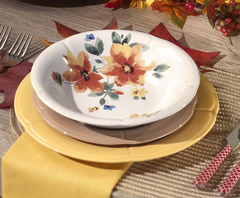 'Kaleidos Service de vaisselle en grès 18pièces. CLORI  Gazania Fleur de richesse (19511_ 19503_ 19522)