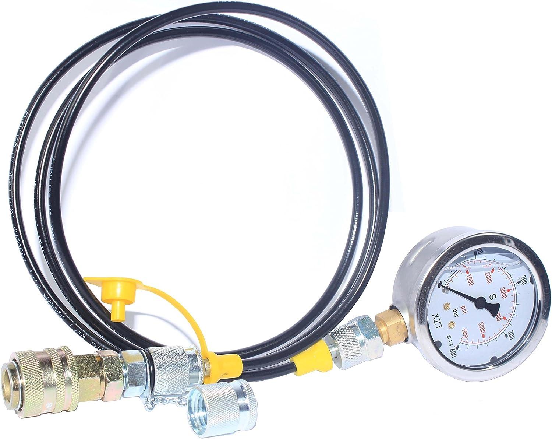 XZT Max 88% OFF 9000PSI Hydraulic Pressure Kit Max 45% OFF Coupling Test Gauge