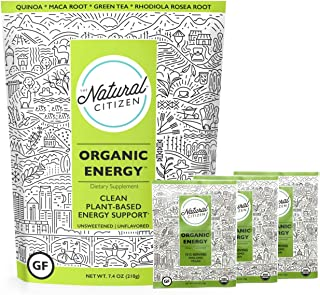 The Natural Citizen Organic Energy, Clean Plant-Based Energy Support, 21 Servings