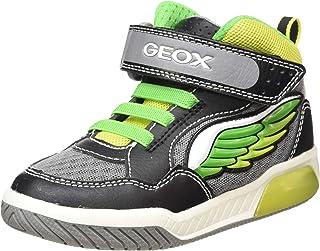 Geox Kids' Inek Boy 2 High Top Light Up Velcro Sneaker