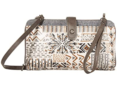 Sakroots Artist Circle Large Smartphone Crossbody (Natural Brave Beauti) Clutch Handbags