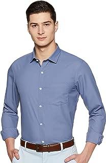 EX Men's Solid Regular Fit Formal Shirt