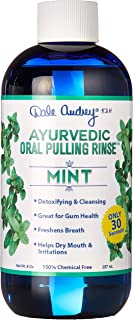 New & Improved ! Ayurvedic Oral Pulling Rinse by Dale Audrey, Mint,W/Neem, Myrrh, Clove & Oil of Oregano. 8oz (1.5 Month-1tsp) Natural & Organic! Swish 30 Seconds - 20 mins for an Amazing Cleanse!