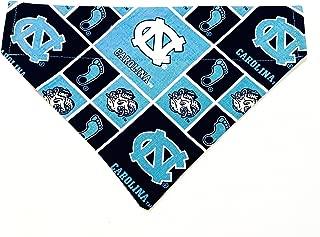University of North Carolina Tar Heels Dog Bandana No Tie Design