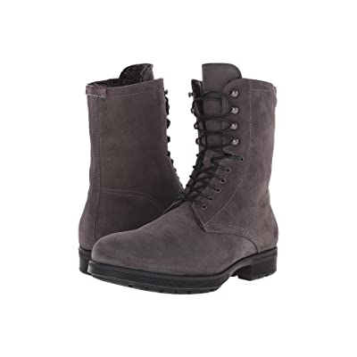 Aquatalia Hayden (Grey Waxy Suede/Shearling) Men