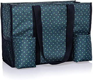 Thirty One Zip Top Organizing Utility Tote (4451) in Dot Trio
