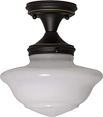 Design House 577502 Schoolhouse Modern Industrial Farmhouse Indoor Dimmable Light, Ceiling, Oil Rubbed Bronze