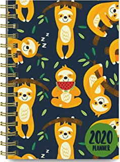 2020 Planner, September 2019 - December 2020 (Sloths) 6.25 x 8.25 Daily Planner, Weekly and Monthly Planner