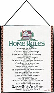 Manual Inspirational Collection Wall Hanging with Frame, Home Rules with Verses X Carol Taylor, 13 X 18-Inch