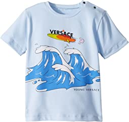 Versace Kids Short Sleeve Wave Graphic T-Shirt (Infant/Toddler)