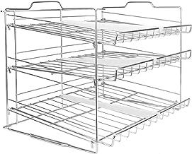 Estante de lata de 3 niveles | Armario de cocina y despensa ...