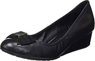 Cole Haan womens Tali Soft Bow Wedge (40mm) Pump, Black Leather, 9.5 US