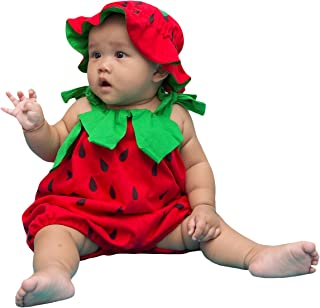 I-Fame Infant Unisex Baby Fancy Strawberry Costume 100% Cotton (Strawberry L, 15-27 months)