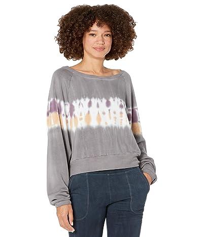 Hard Tail Crop Sweatshirt (Multicolor Lines # 1) Women