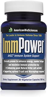 American BioSciences ImmPower AHCC Supplement 2-Pack, Enhanced Immune Support, Natural Killer Cell Activity and Cytokine P...