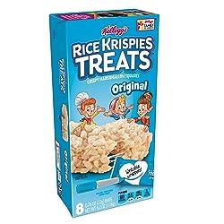 Kellogg's Rice Krispies Treats, Crispy Marshmallow Squares, Original, Single Serve, 0.78 oz Bars(8