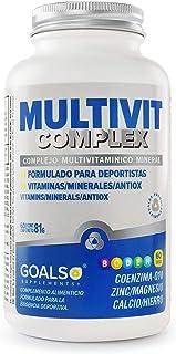Multivitamínico Mineral. antioxidantes. Vitamina B. C. D. E. H. Coenzima Q10. Zinc Magnesio Calcio Hierro - Goals Supplements 60 dosis