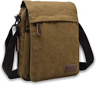 Messenger Bag for Men, Canvas Crossbody Shoulder Bags Vintage Satchel for Travel Work Business