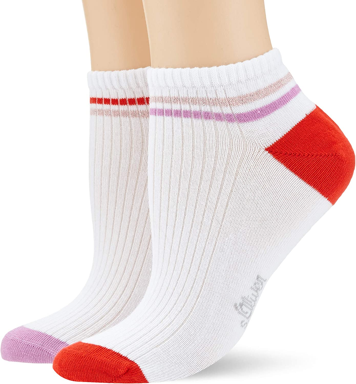 s.Oliver Socks Calzini alla Caviglia Donna Pacco da 2