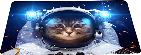 Wizardry1986 Funny Cat As An Astronaut Doormat Cartoon Space Humor Floor Mat With Non Slip Backing Bath Mat Rug Novelty Home Decor 16 24