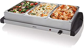 Oster Buffet Server Warming Tray | Triple Tray, 2.5 Quart, Stainless Steel