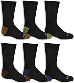 Fruit Of The Loom Big Boys' 10 Pack Crew Socks, White/Gray/ Blue/ Green/ Orange/Red, Shoe Size: 3-9