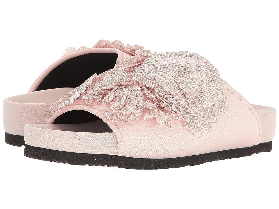 Suecomma Bonnie Flower Detailed Flat Sandal (Pink) Women