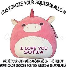 Squishmallow Customized Original Kellytoy Pink Unicorn13 Create Your Own Super Soft Plush Toy Stuffed Animal Pet Pillow Gift