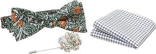 Original Penguin 男士流浪者三件套花卉领带,方形和翻领别针,*,均码