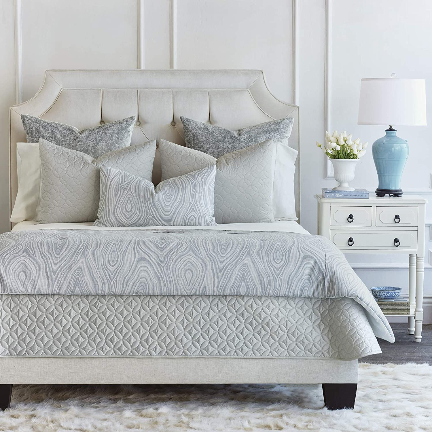 Eastern Accents Torro Transitional King Charlotte Mall Coverlet Excellence Set Gray Bed