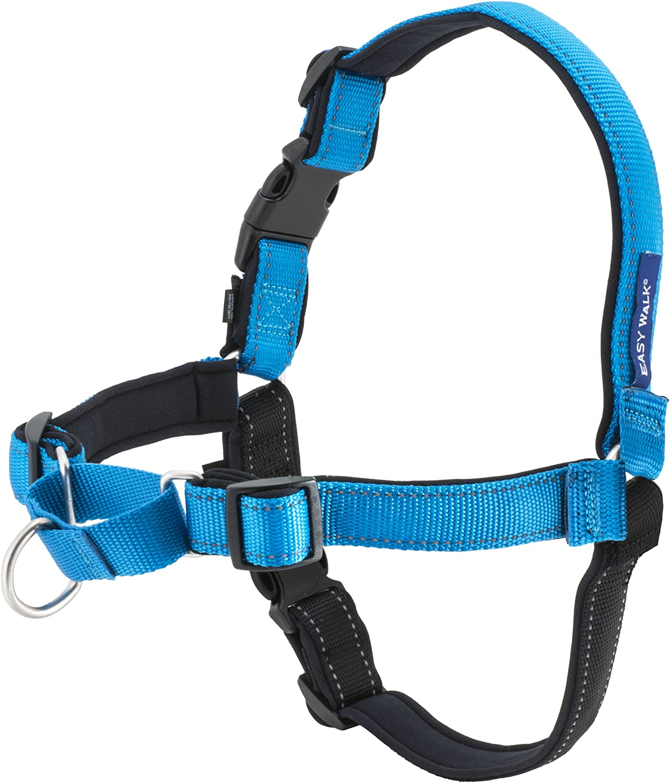 PetSafe Deluxe Easy Walk Harness, Medium/Large, Ocean Blue (EWH-D-HC-M/L-OCN) : Pet Supplies