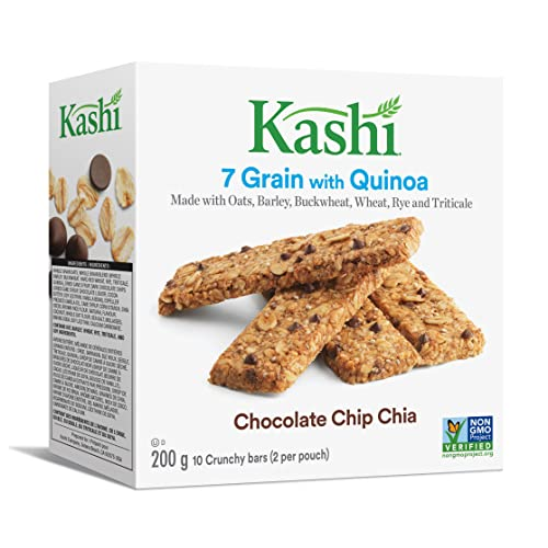 Kashi Seven Grain with Quinoa bars, Chocolate Chip Chia Non-GMO, 200g box