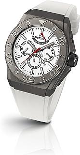 TW Steel - CE5003 - Reloj cronógrafo Unisex, Correa de Silicona Color Blanco