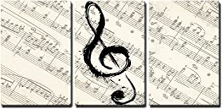 wall26 - Music Note on Score Paper - Canvas Art Wall Decor - 16