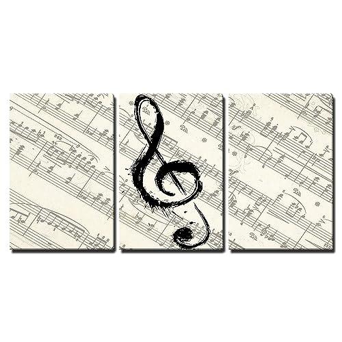 Metal Wall Music Notes Musical Sound Bar
