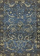 Jaipur Rugs Transitional Blue 5X8 Feet Wool Erased Rug and Carpet
