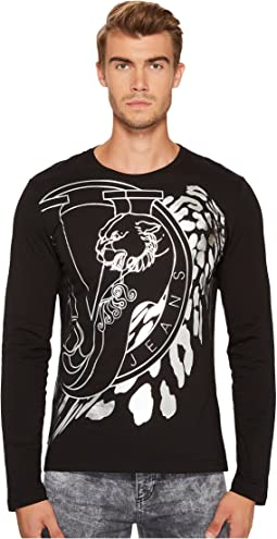 Versace Jeans - Metallic Logo Long Sleeve Tee