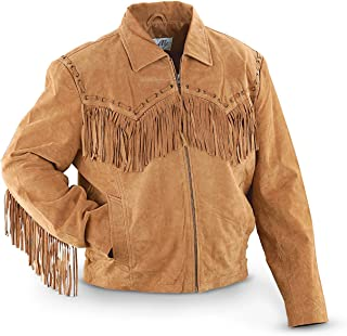 suede tassel jacket mens