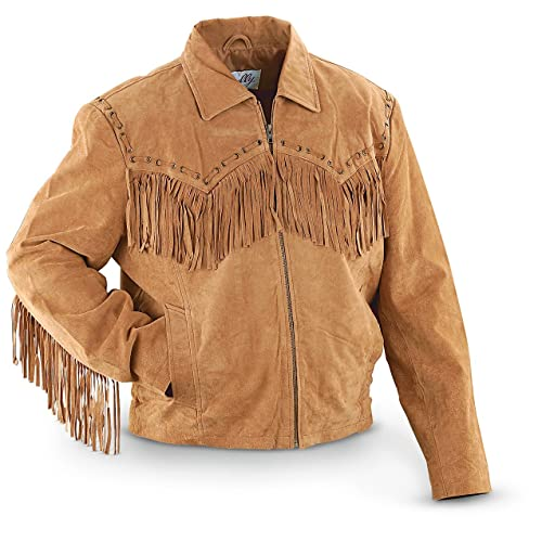 1f521980a4f5 Scully Men s Fringed Suede Leather Short Jacket