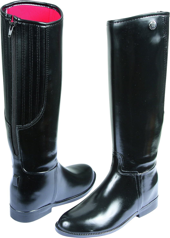 Covalliero 326642 Flexo Riding Boots UK Size 8 (EU Size 42) Plastic Black