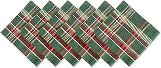 DII Dark Green Plaid 100% Cotton Oversized Napkin
