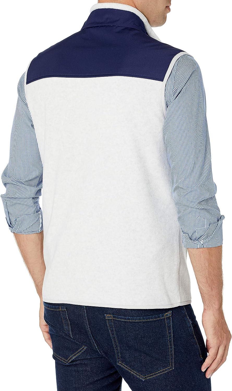 Essentials Men's Full-Zip Polar Fleece Vest: Clothing