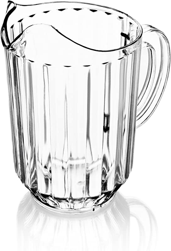 New Star Foodservice 46113 Polycarbonate Plastic Restaurant Water Pitcher 60 Ounce Clear Set Of 12