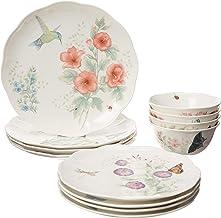 Lenox Butterfly Meadow Flutter 12 Piece Dinnerware Set, 16.4 LB, Multi