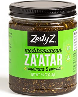 Savory Za'atar and Olive Oil Condiment (Zaatar/Zatar/Zahtar), Mediterranean Spice Blend, 8.1 ounces, Gluten Free, Vegan, Keto, Sugar Free, Zesty Z