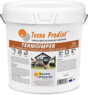 comprar comparacion TERMOIMPER de Tecno Prodist - 15 Litros (BLANCO ÓPTICO) Pintura al agua Aislante Térmico - Interior o Exterior en Paredes,...
