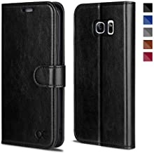 OCASE Galaxy S7 Edge Case [TPU Shockproof Interior Protective Case] [Card Slot] [Kickstand] Leather Wallet Flip Case Samsung Galaxy S7 Edge (Black)